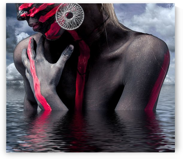Nack Sexy Woman Jewellery Bodypaint Face Head by StockPhotography