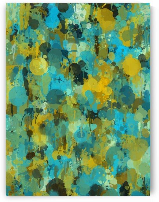 Paint Splattered Graffiti Green Blue Splash by STOCK PHOTOGRAPHY