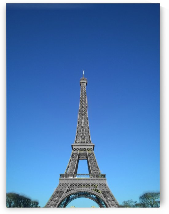 Eiffel tower Paris black and white with color by splash