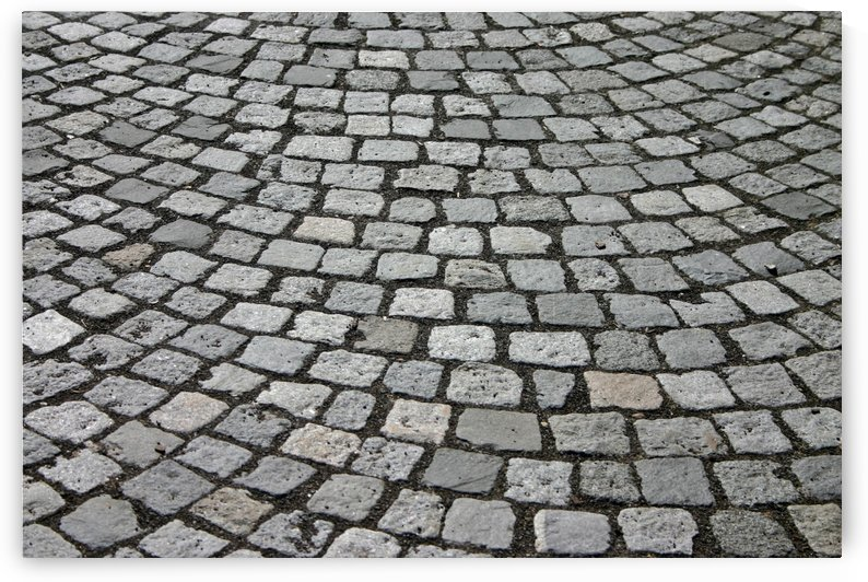 Cobblestones Patch Cobblestone Away Road by StockPhotography