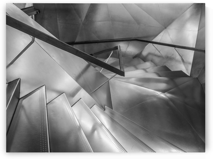 Ladder Art Museum Madrid Creation Arches by StockPhotography