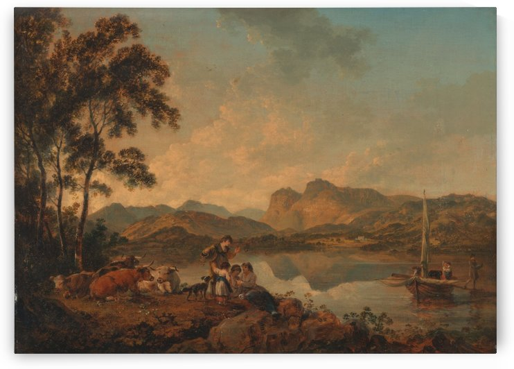 Langdale Pikes from Lowood by Julius Caesar Ibbetson