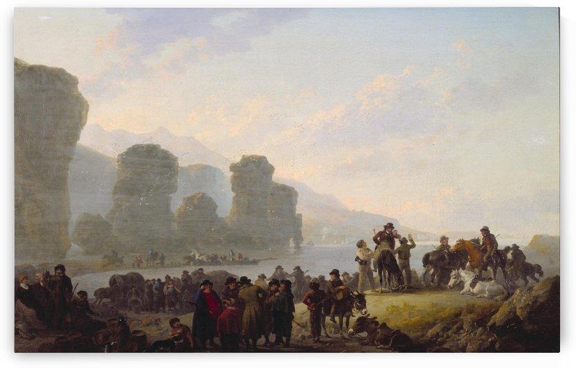 Smugglers on the Irish Coast by Julius Caesar Ibbetson