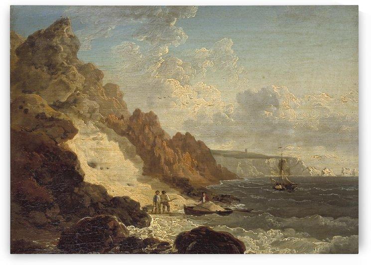 Sand Quarry at Alum Bay by Julius Caesar Ibbetson