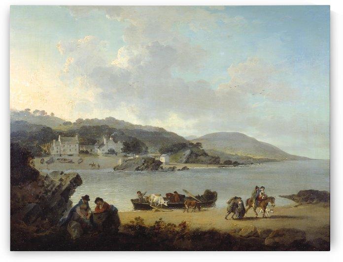 Briton Ferry, Glamorgan by Julius Caesar Ibbetson