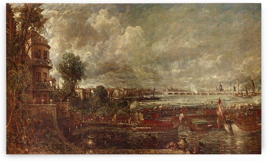 Landscape of a city by Julius Caesar Ibbetson