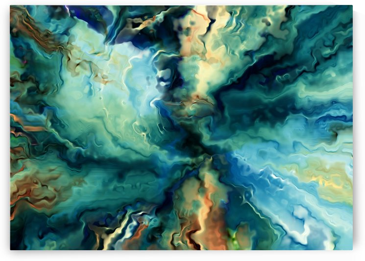 Oil Painting Abstract Color Line Wave Design by StockPhotography