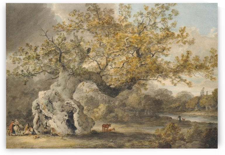 An old tree by Julius Caesar Ibbetson