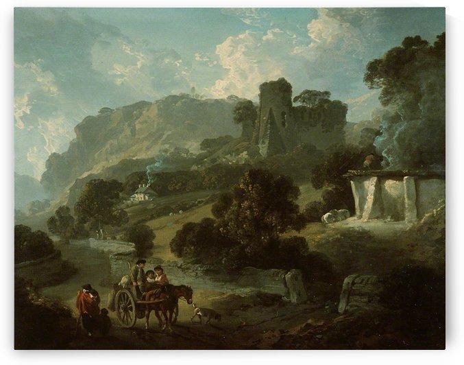 Return from Market, Castell Coch by Julius Caesar Ibbetson