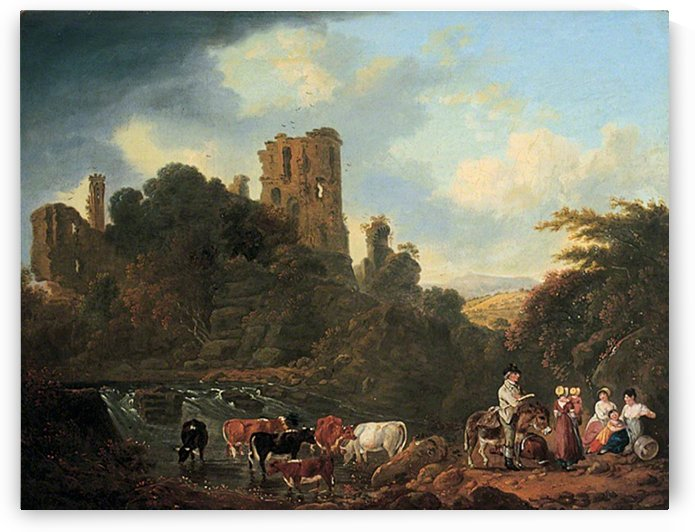 Grosmont Castle, Monmouthshire by Julius Caesar Ibbetson