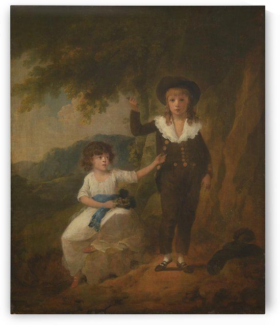 Two Children by Julius Caesar Ibbetson