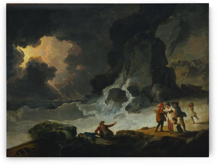 A Storm on the Isle of Wight by Julius Caesar Ibbetson