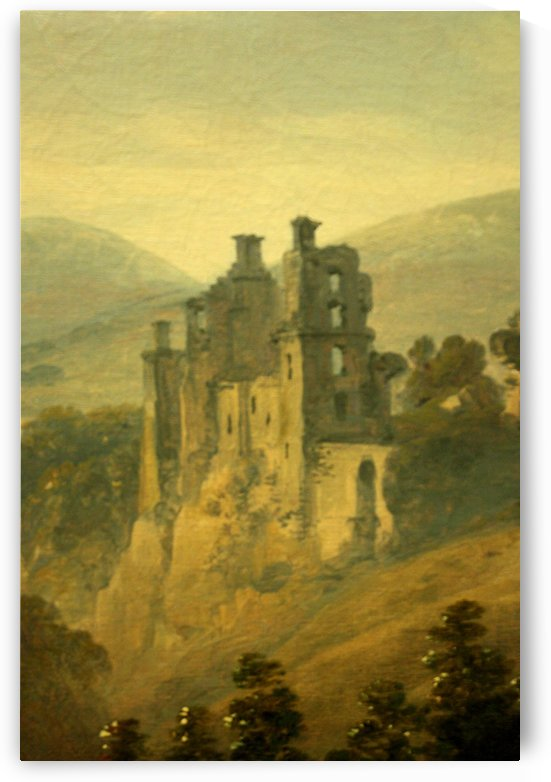 Rosslyn Castle from the east by Julius Caesar Ibbetson