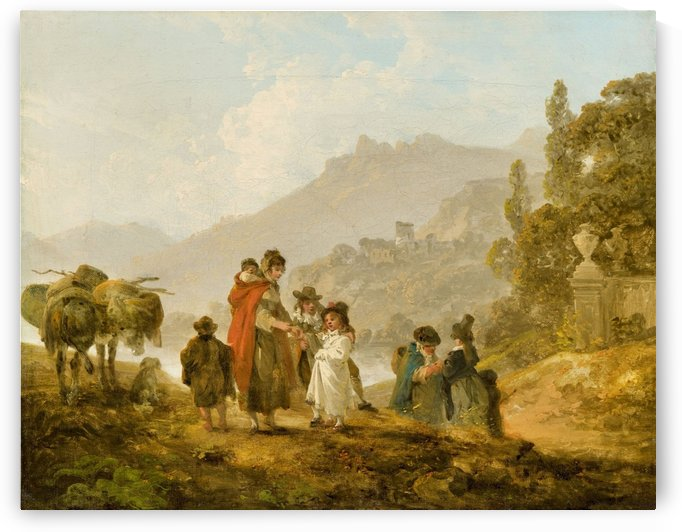 Travelling Folk in Wales by Julius Caesar Ibbetson