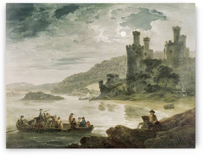Conway Castle by Julius Caesar Ibbetson