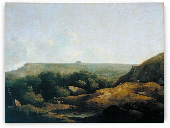 Landscape, near Bath by Julius Caesar Ibbetson