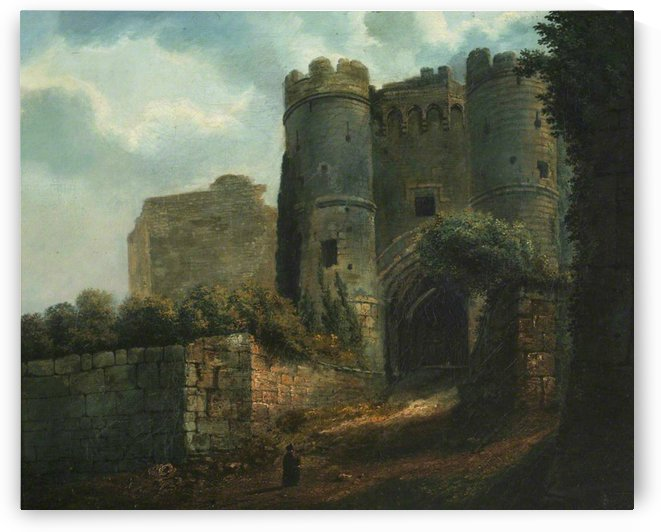 The Gatehouse at Carisbrooke Castle by Julius Caesar Ibbetson