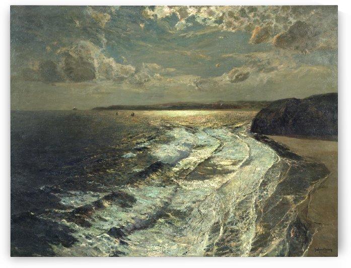 Moonlit Shore by Julius Caesar Ibbetson