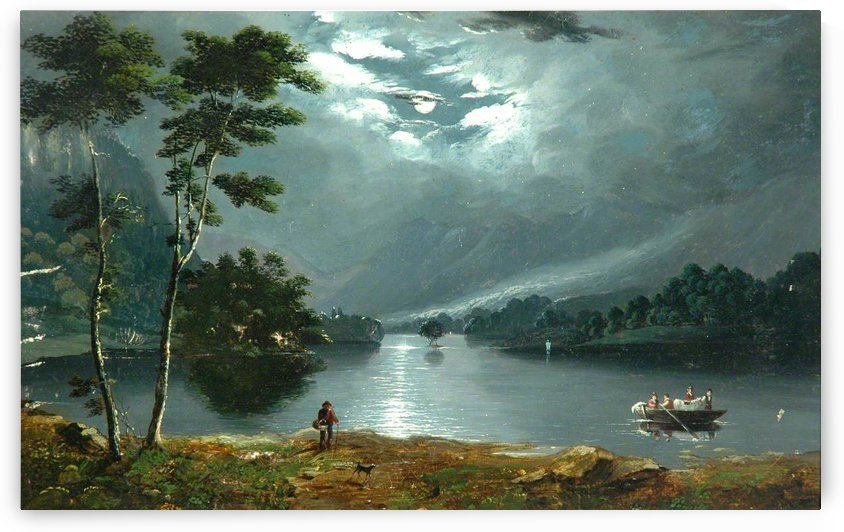Windermere, Looking North and Lake by Julius Caesar Ibbetson
