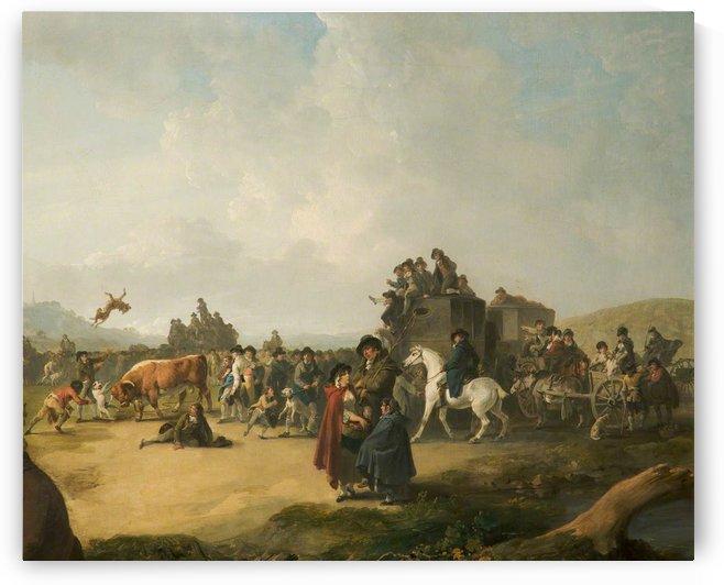 Bull Baiting by Julius Caesar Ibbetson