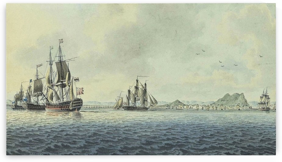 British Fleet off Gibraltar by John Cleveley the Elder