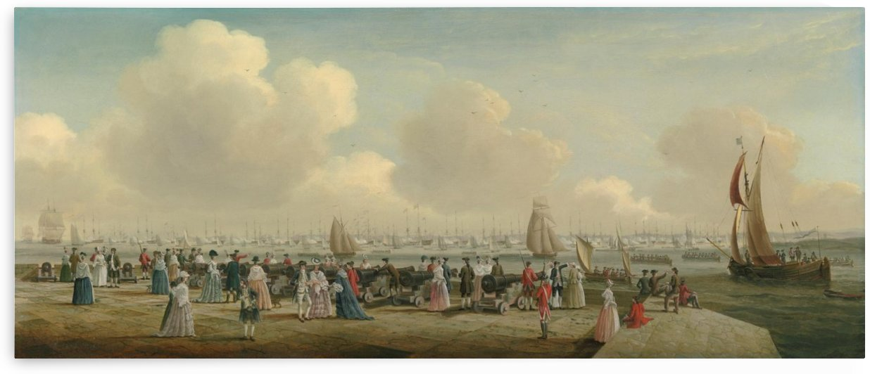 King George III reviewing the Fleet at Spithead by John Cleveley the Elder