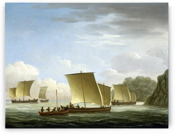 Luxenborough arrival at Newfoundland by John Cleveley the Elder