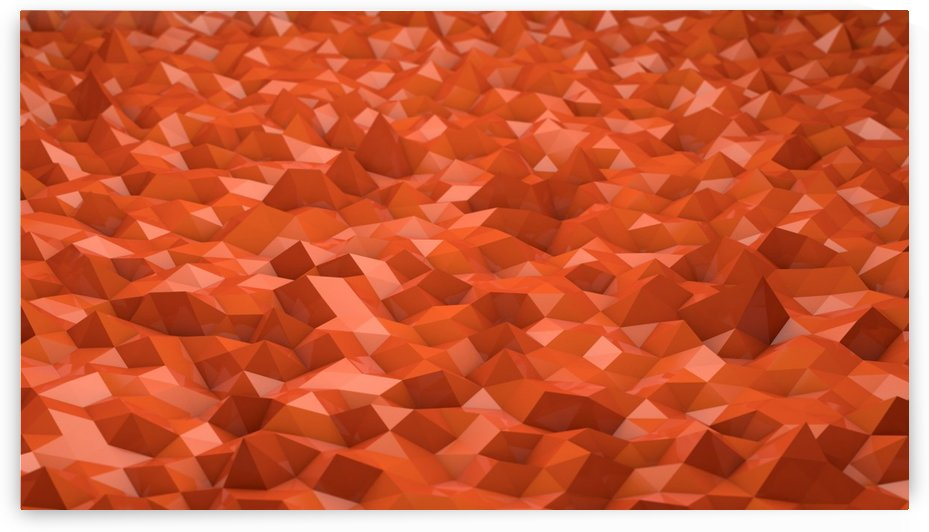 Abstract Low Poly Low Poly Orange Background by StockPhotography