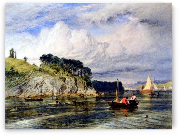 Plymouth from the river by Ebenezer Colls