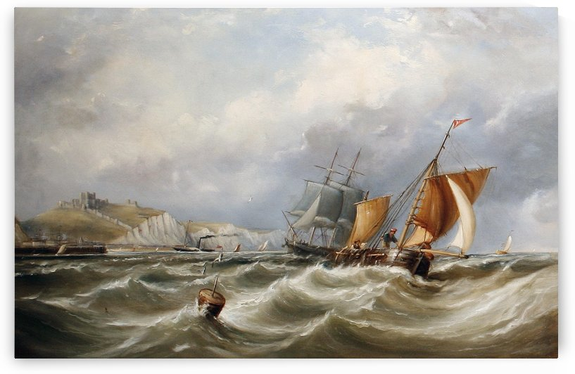 Shipping off a coast by Ebenezer Colls