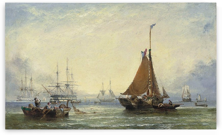 Shipping off the Coast of Kent by Ebenezer Colls