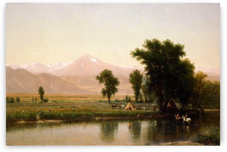 Crossing the River Platte by Thomas Worthington Whittredge