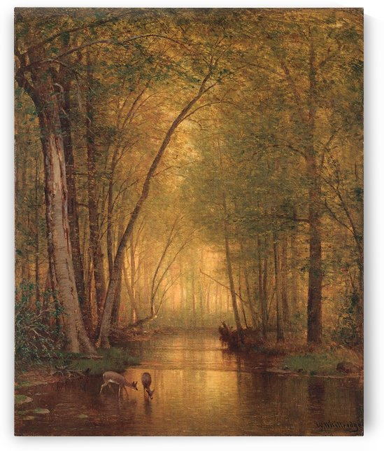 Forest Landscape by Thomas Worthington Whittredge
