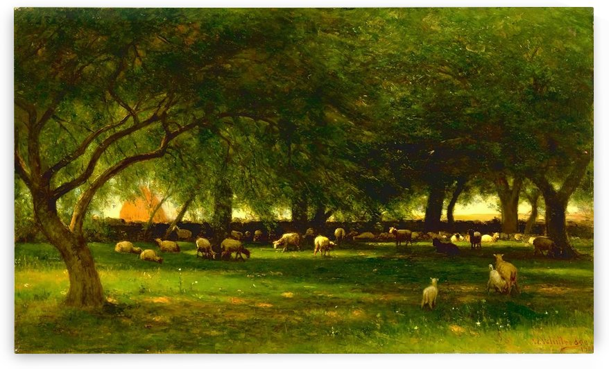 Noon in the Orchard by Thomas Worthington Whittredge