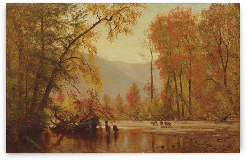 Autumn on the Delaware by Thomas Worthington Whittredge