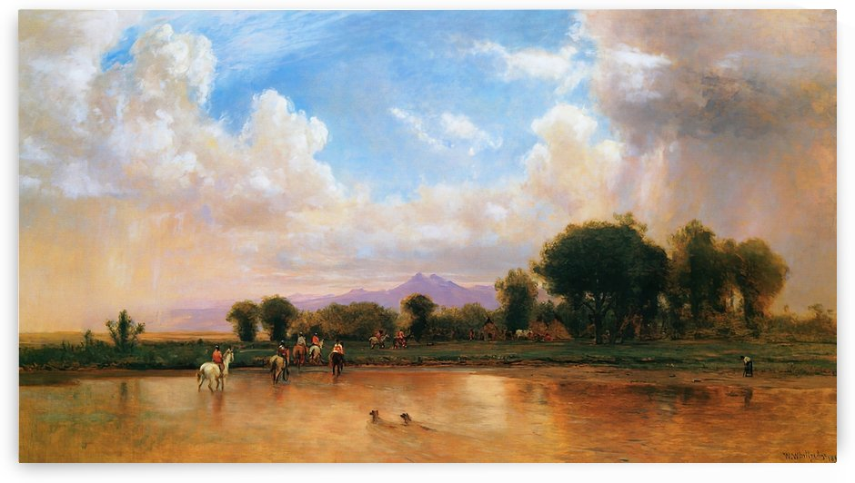 On the Plains Cache la Poudre River by Thomas Worthington Whittredge
