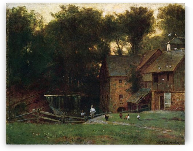 The Mill, Simsbury by Thomas Worthington Whittredge
