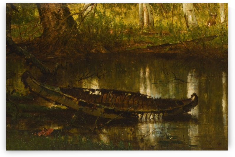 An abandoned boat by Thomas Worthington Whittredge