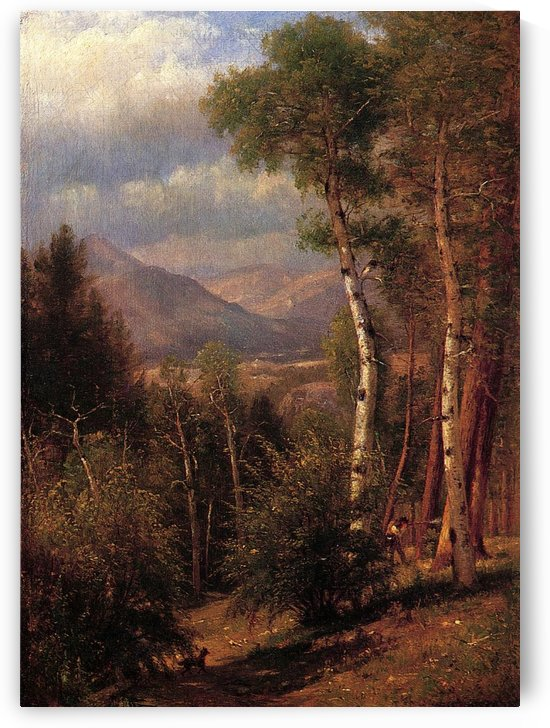 Hunter in the Woods of Ashokan by Thomas Worthington Whittredge