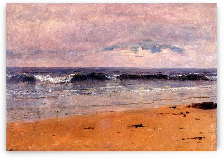 Seascape by the beach by Thomas Worthington Whittredge