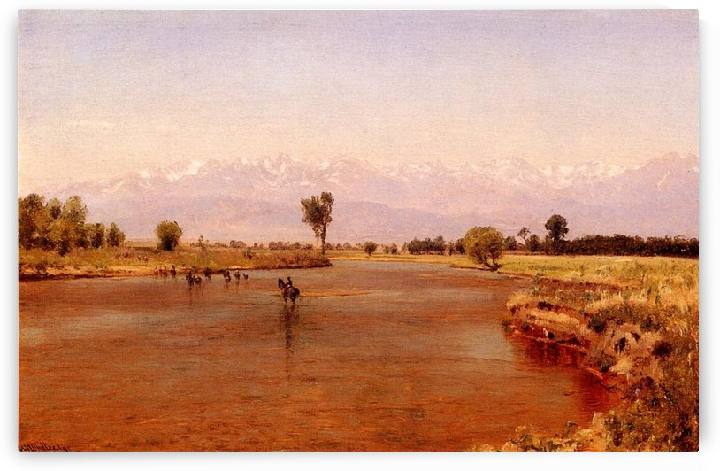 Crossing the Platte 1870 by Thomas Worthington Whittredge
