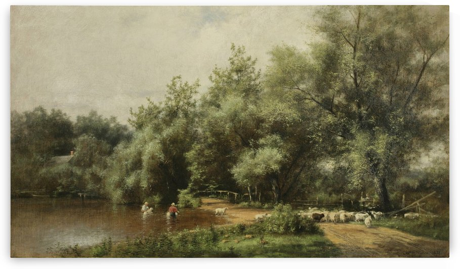 Sheep Washing on Long Island by Thomas Worthington Whittredge