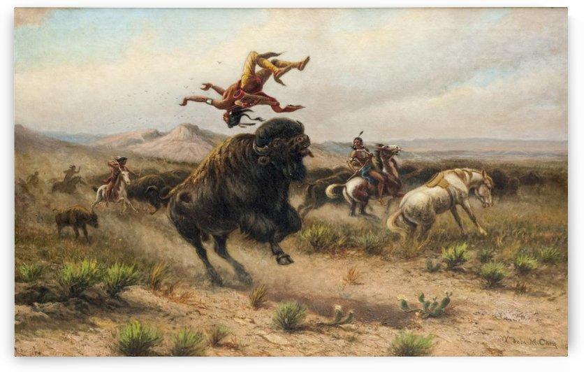 Buffalo riders by William de la Montagne Cary