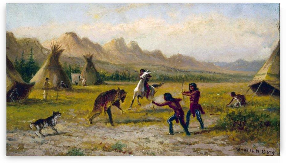 Indian village by William de la Montagne Cary