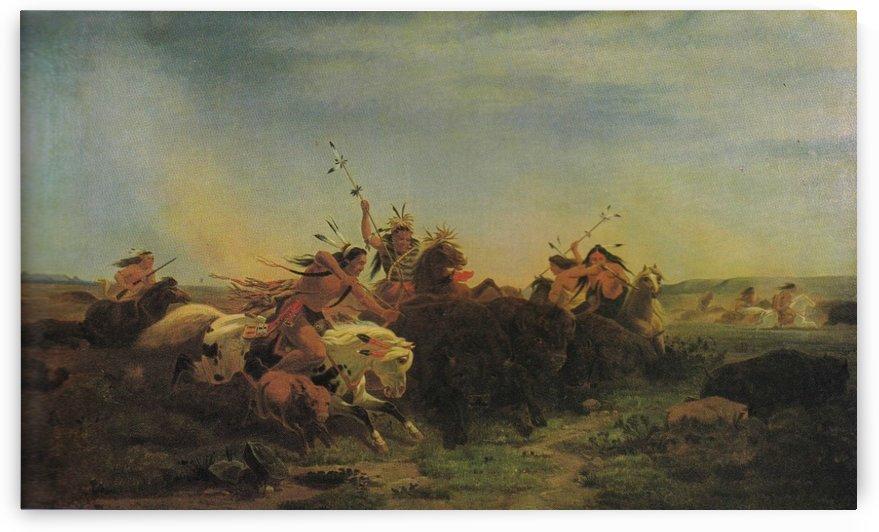 Buffalo hunt by William de la Montagne Cary