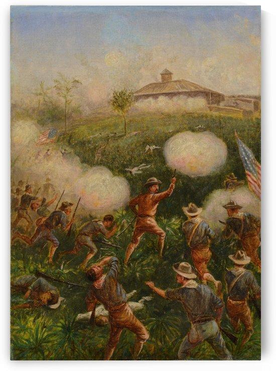 Scene of war by William de la Montagne Cary
