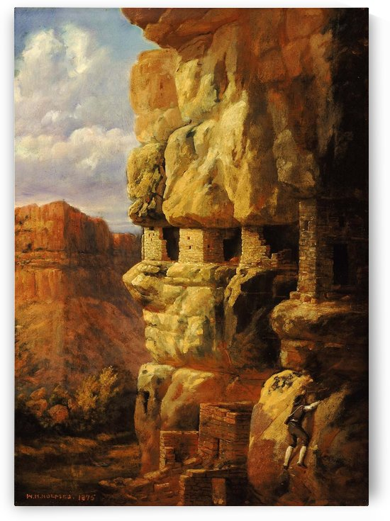 Cliff Houses on the Rio Mancos by William de la Montagne Cary
