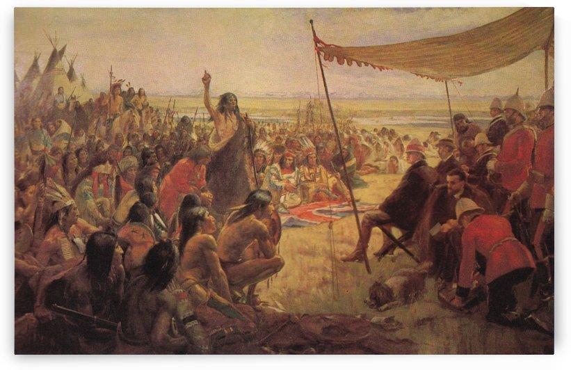 Canoe race by William de la Montagne Cary