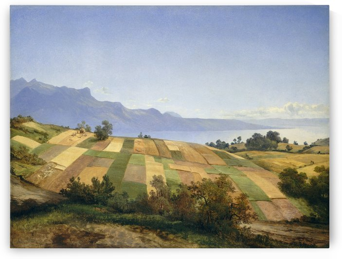 Swiss Landscape 1830 by Alexandre Calame