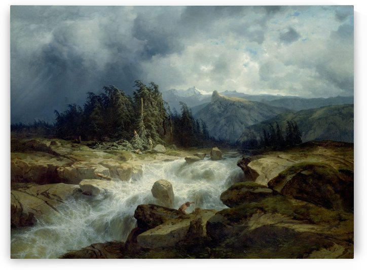 Mountains landscape by Alexandre Calame